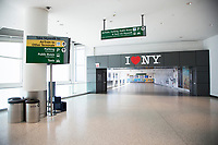 NEW YORK, NY - MAY 12: View of the Jetblue terminal exit at Terminal 5 of John F. Kennedy International Airport on May 12, 2020 in New York, NY. (Photo by Pablo Monsalve / VIEWpress via Getty Images)