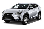 2018 Lexus NX 300 FWD 5 Door SUV angular front stock photos of front three quarter view