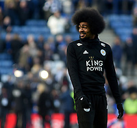 Leicester City's Hamza Choudhury during the pre-match warm-up <br /> <br /> Photographer Hannah Fountain/CameraSport<br /> <br /> The Premier League - Leicester City v Manchester United - Sunday 3rd February 2019 - King Power Stadium - Leicester<br /> <br /> World Copyright © 2019 CameraSport. All rights reserved. 43 Linden Ave. Countesthorpe. Leicester. England. LE8 5PG - Tel: +44 (0) 116 277 4147 - admin@camerasport.com - www.camerasport.com