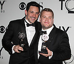 Steve Kazee & James Corden pictured at the 66th Annual Tony Awards held at The Beacon Theatre in New York City , New York on June 10, 2012. © Walter McBride / WM Photography