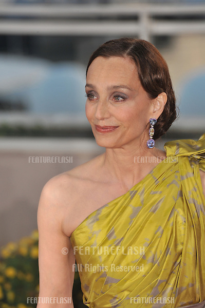 Kristin Scott Thomas at the closing Awards Gala at the 63rd Festival de Cannes..May 23, 2010  Cannes, France.Picture: Paul Smith / Featureflash