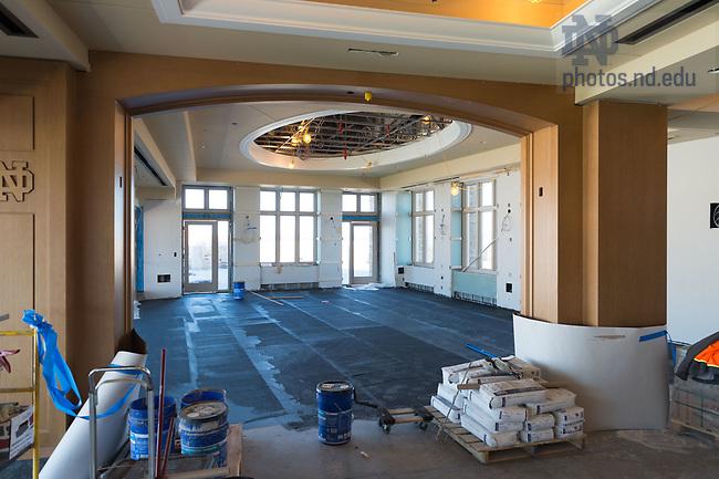 March 8, 2017; Corbett Family Hall 7th floor under construction (Photo by Matt Cashore/University of Notre Dame)