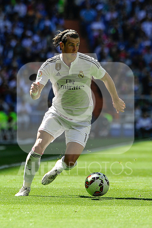 Real Madrid´s Gareth Bale during 2014-15 La Liga match between Real Madrid and Granada at Santiago Bernabeu stadium in Madrid, Spain. April 05, 2015. (ALTERPHOTOS/Luis Fernandez)