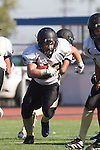 Torrance, CA 09/05/13 - AJ Hezlep (Peninsula #12) in action during the Peninsula vs North Junior Varsity football game played at North High School in Torrance, California.