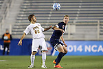 12 December 2014: UMBC's Geaton Cattabiano (80) and Virginia's Scott Thomsen (right). The University of Virginia Cavaliers played the University of Maryland Baltimore County Retrievers at WakeMed Stadium in Cary, North Carolina in a 2014 NCAA Division I Men's College Cup semifinal match. Virginia won the game 1-0.