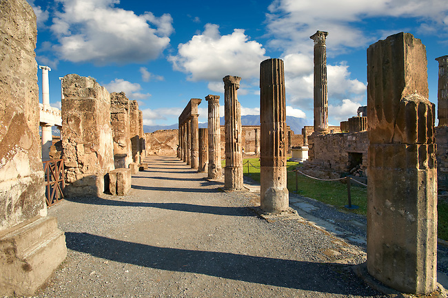 Roman Temple of Apollo  Pompeii archaeological site, Italy