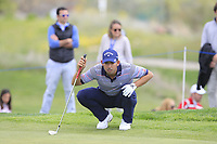 Pablo Larrazabal (ESP) on the 10th green during Round 3 of the Open de Espana 2018 at Centro Nacional de Golf on Saturday 14th April 2018.<br /> Picture:  Thos Caffrey / www.golffile.ie<br /> <br /> All photo usage must carry mandatory copyright credit (&copy; Golffile | Thos Caffrey)