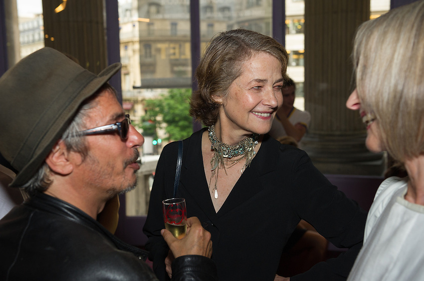 Charlotte Rampling OBE, actress and President of Festival Paris Cinema with Leos Carax, french film director, critic and writer, including Holy Motors, at the opening night of Festival Paris Cinema 2012, involving the first film, Holy Motors, at the Gaumont Opera, and a reception at the Hotel de Ville. Guests including Festival President Charlotte Rampling, and Kylie Minogue. Thursday 28th June 2012.