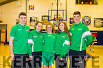 Rachel Ryan (Tralee), Niamh O'Connor (Dingle) and Kayla O'Connor (Castleisland) part of the Ireland U15 ladies basketball development squad who defeated Scotland in a three game International Series at the Oblate Hall, Dublin last weekend.Dáire Kennelly (Camp) and Donal Geaney (Castleisland) who represented Ireland in Dublin last weekend with Castleisland's Paudie Fleming