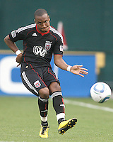 Rodney Wallace #22 of D.C. United had to leave the game in the second half with an injury during an MLS match against Real Salt Lake at RFK Stadium, on June 5 2010 in Washington DC. The game ended in a 0-0 tie.