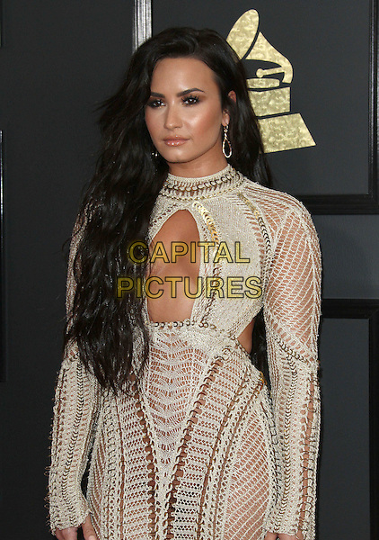 12 February 2017 - Los Angeles, California - Demi Lovato. 59th Annual GRAMMY Awards held at the Staples Center.  <br /> CAP/ADM<br /> &copy;ADM/Capital Pictures