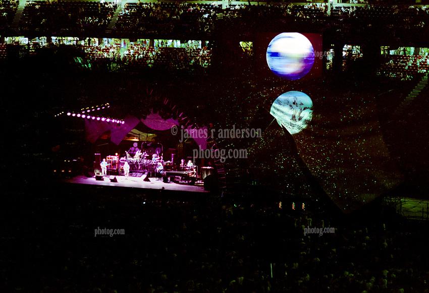 The Grateful Dead Live in Concert at Giants Stadium June 16, 1991. Full Set, Lights and Stage Design Capture Image. Version 02 More Stars Detail