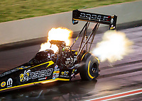 Jul 20, 2019; Morrison, CO, USA; NHRA top fuel driver Leah Pritchett during qualifying for the Mile High Nationals at Bandimere Speedway. Mandatory Credit: Mark J. Rebilas-USA TODAY Sports