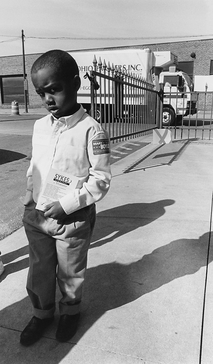 Andrew Douglas (age 4), Nephew of Employee in Cleveland Mayor Michael R. White's office, in April 1994. (Photo by CQ Roll Call via Getty Images)