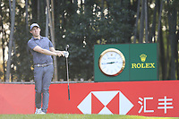 Matthew Fitzpatrick (ENG) on the 17th tee during the final round of the WGC HSBC Champions, Sheshan Golf Club, Shanghai, China. 03/11/2019.<br /> Picture Fran Caffrey / Golffile.ie<br /> <br /> All photo usage must carry mandatory copyright credit (© Golffile | Fran Caffrey)