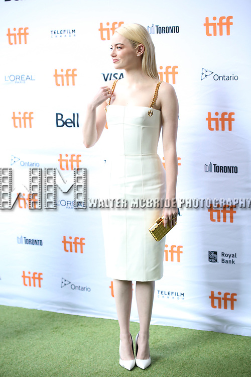Emma Stone attends the 'Battle of the Sexesl' premiere during the 2017 Toronto International Film Festival at Ryerson Theatre on September 10, 2017 in Toronto, Canada.