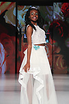 Model walks runway in an outfit from the Elizabeth Cordelia collection, at The Society Fashion Week on September 9, 2018 at The Roosevelt Hotel in New York City, during New York Fashion Week Spring Summer 2019.