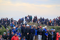 Jordan Spieth (USA) making his way over the dunes from the practice range not he 13th during final round of The Open Championship 146th Royal Birkdale, Southport, England. 23/07/2017.<br /> Picture Fran Caffrey / Golffile.ie<br /> <br /> All photo usage must carry mandatory copyright credit (&copy; Golffile | Fran Caffrey)
