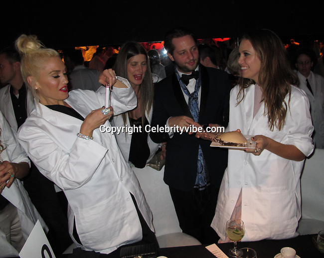"""Gwen Stefani, Michelle Alves and Dasha Zhukova. .2011 MOCA Gala - """"An Artists Life Manifesto"""" With Artistic Direction From Marina Abramovic - Inside..MOCA Grand Avenue.Los Angeles, CA, USA..Saturday, November 12, 2011..Photo By CelebrityVibe.com..To license this image please call (323) 325-4035 ; or Email: CelebrityVibe@gmail.com ; .website: www.CelebrityVibe.com .**EXCLUSIVE**"""