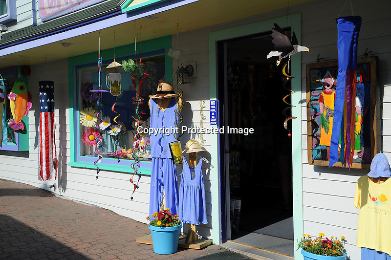 A Colorful Shop in Maine, USA