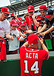 24 May 2009: Washington Nationals' Manager Manny Acta signs autographs prior to a game against the Baltimore Orioles at Nationals Park in Washington, DC. The Nationals rallied to defeat the Orioles 8-5 and salvage one win of their interleague series. Mandatory Credit: Ed Wolfstein Photo