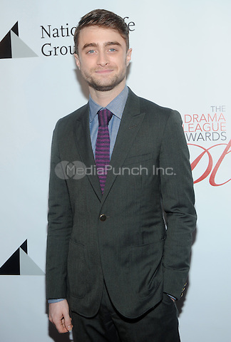 New York, NY- May 16:Daniel Radcliffe attends the 80th Annual Drama League Awards Ceremony and luncheon at the Marriot Marquis Times Square on May 16, 2014 in New York City. Credit: John Palmer/MediaPunch