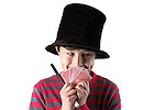 Young magician series - isolated on white