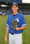 July 14th, 2007:  Andrew Schindling of the Aberdeen Ironbirds, Class-A Short-Season affiliate of the Baltimore Orioles, poses for a photo before a game vs the Jamestown Jammers in New York-Penn League action.  Photo Copyright Mike Janes Photography 2007.