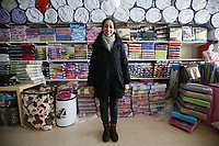 Sawsan, a Syrian refugee from Damascus, who is now working as an accountant in a textile manufacturing business in Lebanon. <br /> <br /> Picture: Russell Watkins/DFID