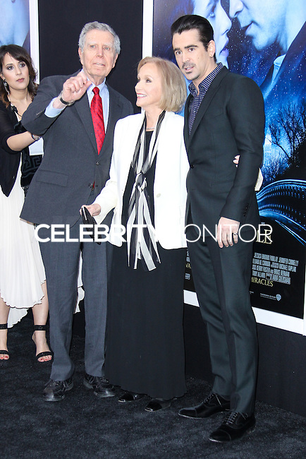 """NEW YORK, NY - FEBRUARY 11: Jeffrey Hayden, Eva Marie Saint, Colin Farrell at the World Premiere Of Warner Bros. Pictures' """"Winter's Tale"""" held at Ziegfeld Theatre on February 11, 2014 in New York City. (Photo by Jeffery Duran/Celebrity Monitor)"""