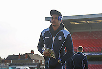 Goalkeeper Jamal Blackman of Wycombe Wanderers ahead of the Sky Bet League 2 match between Grimsby Town and Wycombe Wanderers at Blundell Park, Cleethorpes, England on 4 March 2017. Photo by Andy Rowland / PRiME Media Images.