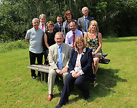 Pictured: Edwin Roderick (TOP ROW 2ND FROM LEFT) and Emily Durrant (TOP ROW THIRD FROM LEFT) during an unrelated Brecon Beacons National Park Authority meeting.<br />