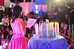 Bat Mitzvah girl, candle lighting