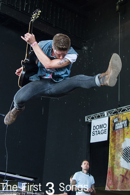 Alex Reed of Go Radio performs during the Vans Warped Tour at the Klipsch Music Center in Indianapolis, IN.