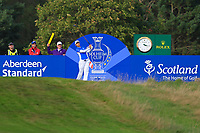 Charley Hull (EUR) on the 17th tee during Day 3 Singles at the Solheim Cup 2019, Gleneagles Golf CLub, Auchterarder, Perthshire, Scotland. 15/09/2019.<br /> Picture Thos Caffrey / Golffile.ie<br /> <br /> All photo usage must carry mandatory copyright credit (© Golffile | Thos Caffrey)