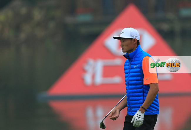 Li Haotong (CHN) on the 18th fairway during Round 4 of the WGC HSBC Champions at the Sheshan International Golf Club in Sheshan, Shanghai, China on Sunday 13/09/15.<br /> Picture: Thos Caffrey | Golffile