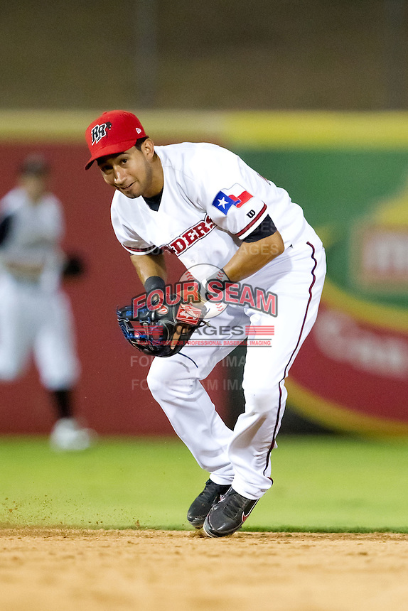 Renny Osuna (13) of the Frisco RoughRiders on defense during a game against the North All-Stars 2011 in the Texas League All-Star game at Nelson Wolff Stadium on June 29, 2011 in San Antonio, Texas. (David Welker / Four Seam Images)..