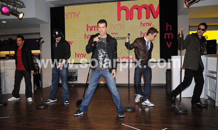 **ALL ROUND PICTURES FROM SOLARPIX.COM**.**WORLDWIDE SYNDICATION RIGHTS**.New Kids On The Block perform live for fans at HMV's flagship store, Oxford Street, London, UK.  Monday September 08, 2008...JOB REF: 7251 SSD     DATE: 08_09_2008.**MUST CREDIT SOLARPIX.COM OR DOUBLE FEE WILL BE CHARGED* *UNDER NO CIRCUMSTANCES IS THIS IMAGE TO BE REPRODUCED FOR ANY ONLINE EDITION WITHOUT PRIOR PERMISSION*