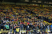 Watford supporters pay their respects to former Watford manager Graham Taylor before the match <br /> <br /> Photographer Andrew Kearns/CameraSport<br /> <br /> The Premier League - Watford v Burnley - Saturday 19 January 2019 - Vicarage Road - Watford<br /> <br /> World Copyright © 2019 CameraSport. All rights reserved. 43 Linden Ave. Countesthorpe. Leicester. England. LE8 5PG - Tel: +44 (0) 116 277 4147 - admin@camerasport.com - www.camerasport.com