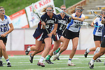 Redondo Beach, CA 05/14/11 - Kelsey Patch (St Margaret #6) and unidentified Cate player in action during the 2011 Division 2 US Lacrosse / CIF Southern Section Championship game between Cate School and St Margaret.