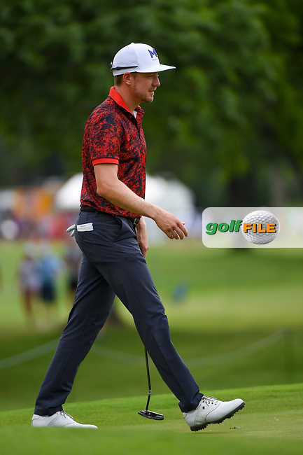 Jonas Blixt (SWE) reacts to leaving his birdie putt a bit short on 2 during round 3 of the 2019 Charles Schwab Challenge, Colonial Country Club, Ft. Worth, Texas,  USA. 5/25/2019.<br /> Picture: Golffile | Ken Murray<br /> <br /> All photo usage must carry mandatory copyright credit (© Golffile | Ken Murray)