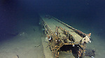 A handout photo provided by Paul G. Allen on March 2, 2015, the Japanese battleship Musashi was located by Paul G. Allen and his research team. These are the first images of the wreck captured by the Octo ROV from M/Y Octopus. Musashi carried six to seven float planes launched from this catapult system. The planes were either Mitsubishi F1M2s or Aichi E13A. (Photo by Paul G. Allen/Handout/AFLO)  FOR EDITORIAL USE ONLY.