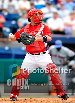 1 March 2011: Washington Nationals' catcher Derek Norris in action during a Spring Training game against the New York Mets at Space Coast Stadium in Viera, Florida. The Nationals defeated the Mets 5-3 in Grapefruit League action. Mandatory Credit: Ed Wolfstein Photo