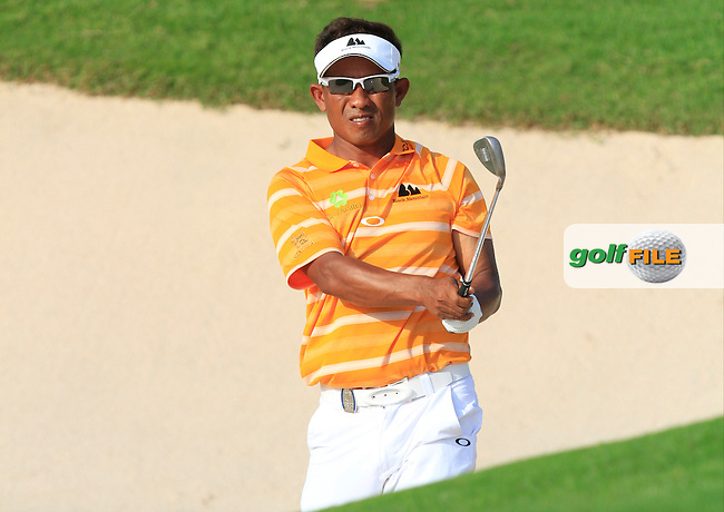 Thongchai Jaidee (THA) on the 17th green during Round 4 of the True Thailand Classic at the Black Mountain Golf  Club on Sunday 15th February 2015.<br /> Picture:  Thos Caffrey / www.golffile.ie