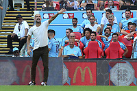 Manchester City Manager, Pep Guardiola during Chelsea vs Manchester City, FA Community Shield Football at Wembley Stadium on 5th August 2018