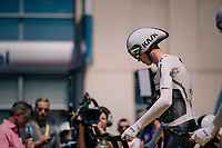 Chris Froome (GBR/SKY) getting ready <br /> <br /> Stage 3 (Team Time Trial): Cholet > Cholet (35km)<br /> <br /> 105th Tour de France 2018<br /> ©kramon