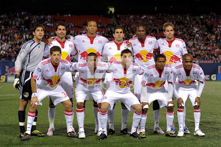 New York Red Bulls starting eleven. The New York Red Bulls  and the New England Revolution played to a 1-1 tie during a Major League Soccer match at Giants Stadium in East Rutherford, NJ, on March 28, 2009. Photo by Howard C. Smith/isiphotos.com