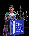 Lea Salonga during the 74th Annual Theatre World Awards at Circle in the Square on June 4, 2018 in New York City.