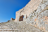 The castle of Akrokorinthos, Greece