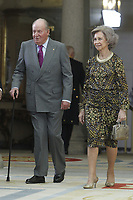 MADRID, SPAIN - JANUARY 10: King Juan Carlos and Queen Sofia attend the National Sports Awards 2017 at the El Pardo Palace on January 10, 2019 in Madrid, Spain.  ***NO SPAIN***<br /> CAP/MPI/RJO<br /> &copy;RJO/MPI/Capital Pictures